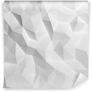 Vinil Duvar Resmi Özet beyaz üçgen 3D geometrik kağıt arka plan