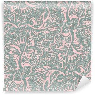 Vinil Duvar Resmi Paisley seamless pattern