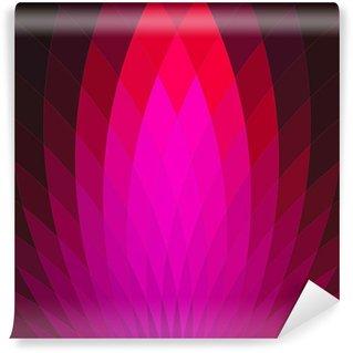 Vinil Duvar Resmi Parlak pembe kırmızı geometrik çiçek ile arka plan.