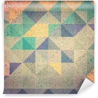 Vinil Duvar Resmi Pembe ve mor üçgen arka plan illüstrasyon