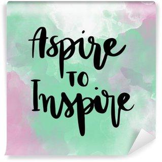 Vinil Duvar Resmi Renkli arka plan üzerinde ilham elle yazı mesajı ilham talip