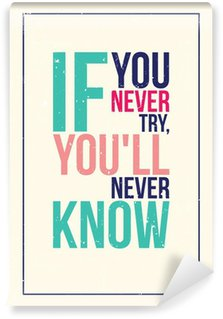 Vinil Duvar Resmi Renkli ilham motivasyon posteri. grunge tarzı
