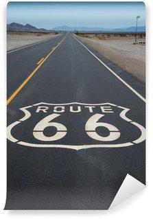 Vinil Duvar Resmi Route 66 karayolu kalkan Kaliforniya'da yolda boyalı