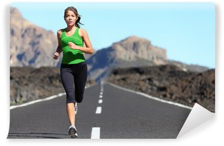 Vinil Duvar Resmi Runner - kadin koşu