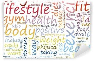 Vinil Duvar Resmi Sağlık ve formda olma