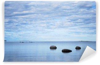 Vinil Duvar Resmi Sakin bir koyda kıyısında Kayalar