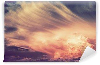 Vinil Duvar Resmi Scenic Sunset Fırtına