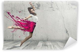Vinil Duvar Resmi Sıvı Dancer