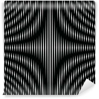 Vinil Duvar Resmi Siyah ve beyaz hareli çizgilerle çizgili psychedelic arka plan