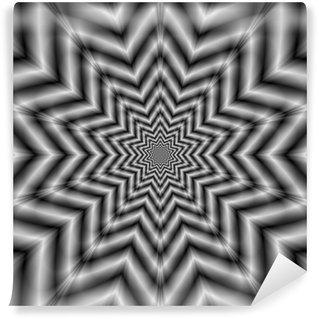 Vinil Duvar Resmi Siyah ve Beyaz optik Zorlu Yıldız
