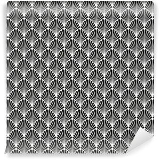 Vinil Duvar Resmi Soyut Dikişsiz Art Deco Vektör Desen Doku