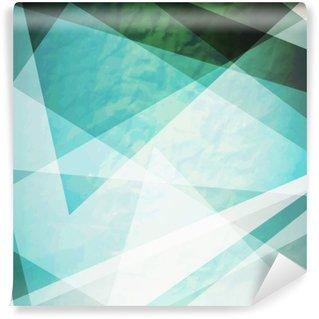 Vinil Duvar Resmi Soyutlama, retro grunge üçgenler vector background