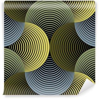 Vinil Duvar Resmi Süslü Geometrik Yaprakları Izgara, Özet Vektör Dikişsiz Desen