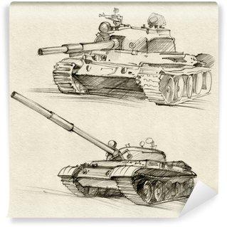 Vinil Duvar Resmi T-54 ve T-55 tankları
