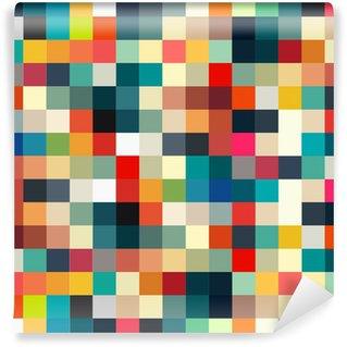 Vinil Duvar Resmi Tasarım için kesintisiz soyut geometrik Retro desen