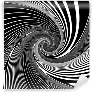 Vinil Duvar Resmi Tasarım monokrom sarmal hareket yanılsaması arka plan
