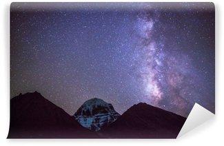 Vinil Duvar Resmi Tibet Mt.Kailash üzerinde MilkyWay