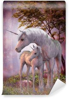 Vinil Duvar Resmi Unicorn Mare ve Foal