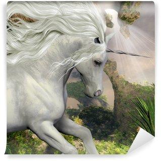 Vinil Duvar Resmi Unicorn ve Yucca Bitki