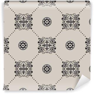 Vinil Duvar Resmi Vektör damask seamless pattern background