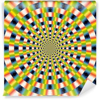 Vinil Duvar Resmi Vektör Optik Sanat