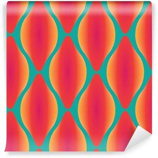 Vinil Duvar Resmi Vektör renkli soyut çağdaş kesintisiz geometrik desen
