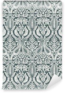 Vinil Duvar Resmi Vektör sorunsuz çiçek şam model klasik soyut backgroun
