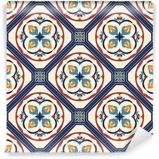 Vinil Duvar Resmi Vektör sorunsuz doku. dekoratif elemanları ile tasarım ve moda için güzel renkli desen
