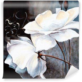 Vinil Duvar Resmi Weisse Blumen
