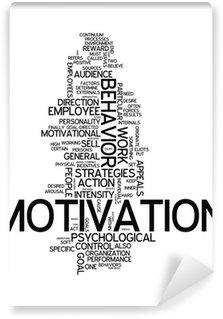 "Vinil Duvar Resmi Word Cloud ""Motivasyon"""