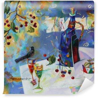 Vinil Duvar Resmi Yağ resim çiziyor