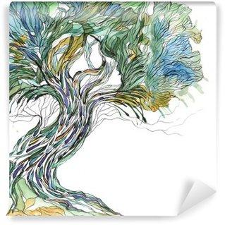 Vinil Duvar Resmi Yaşlı ağaç