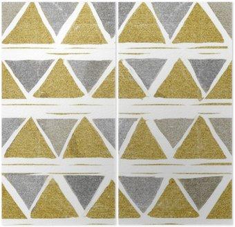 Dyptyk Abstrakcyjne bezszwowych wzór złoty