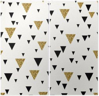 Dyptyk Abstrakcyjne geometryczne powtarzalne wzór