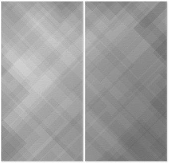 Dyptyk Abstrakcyjny wzór szary