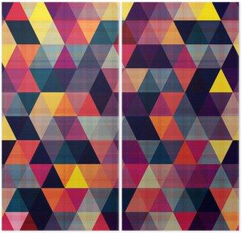 Dyptyk Bezszwowe tło trójkąt