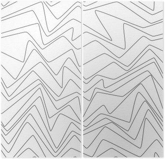 Dyptyk Bezszwowy Minimalne linie abstrakcyjne strpes papieru tekstylna tkanina wzór