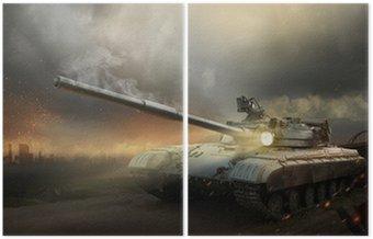 Dyptyk Ciężka zbroja w ogniu walki
