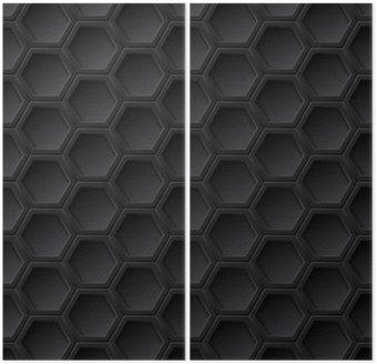 Dyptyk Czarna siatka bezszwowych wzór