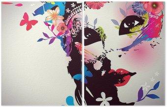Dziewczyna z maską / ilustracji wektorowych