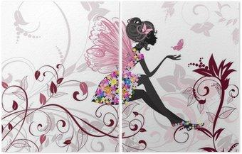 Dyptyk Flower Fairy z motyli