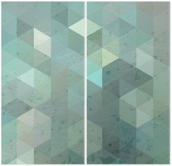 Dyptyk Geometryczna retro tle z grunge tekstury