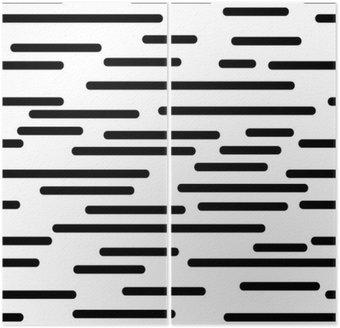 Dyptyk Geometrycznej tekstury z gładkimi liniami