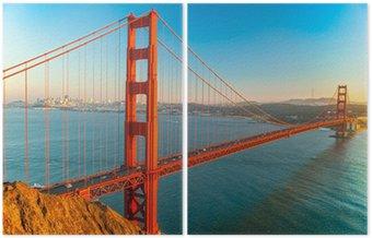 Dyptyk Golden Gate, San Francisco, Kalifornia, USA.