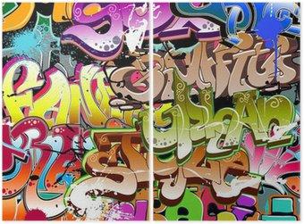Dyptyk Graffiti bezszwowe tło. miejskich sztuki tekstury