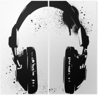 Dyptyk Graffiti słuchawki