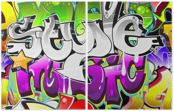 Dyptyk Graffiti Urban Art tle. powtarzalne projekt