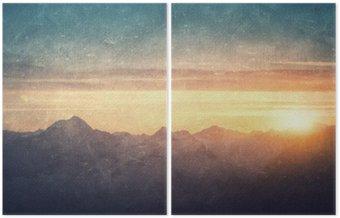 Dyptyk Grunge stylu krajobrazowego