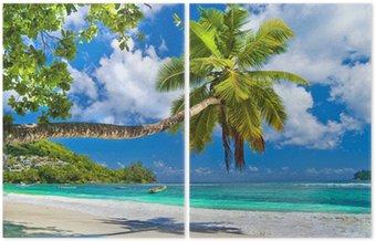 Dyptyk Idylliczny tropikalnej scenerii - Seszele