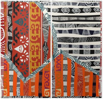 Dyptyk Indian tribal bez szwu pattern.Vector ilustracji